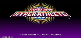 Title screen of Hyper Athlete on the Arcade.