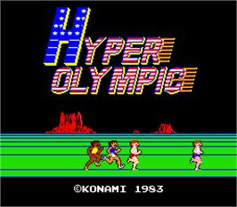 Title screen of Hyper Olympic on the Arcade.