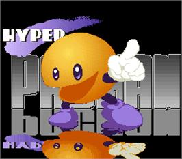 Title screen of Hyper Pacman on the Arcade.
