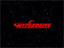 Title screen of Hyperdrive on the Arcade.