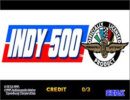 Title screen of INDY 500 Deluxe on the Arcade.