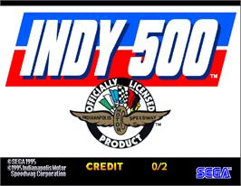 Title screen of INDY 500 Twin on the Arcade.