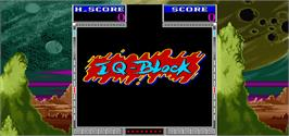 Title screen of IQ-Block on the Arcade.