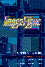 Title screen of Image Fight on the Arcade.