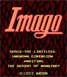 Title screen of Imago on the Arcade.