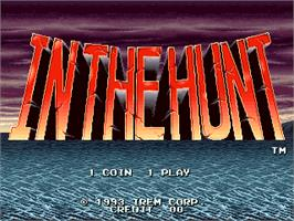 Title screen of In The Hunt on the Arcade.