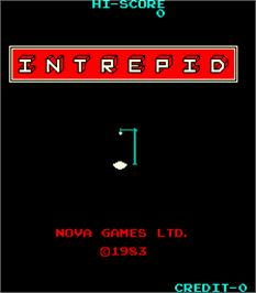 Title screen of Intrepid on the Arcade.