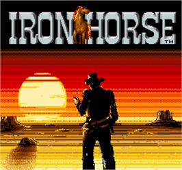 Title screen of Iron Horse on the Arcade.