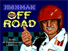 Title screen of Ironman Ivan Stewart's Super Off-Road on the Arcade.