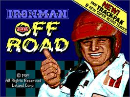 Title screen of Ironman Ivan Stewart's Super Off-Road Track-Pak on the Arcade.