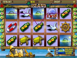 Title screen of Island on the Arcade.