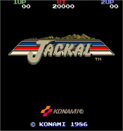 Title screen of Jackal on the Arcade.
