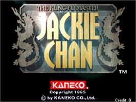 Title screen of Jackie Chan - The Kung-Fu Master on the Arcade.