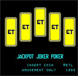 Title screen of Jackpot Joker Poker on the Arcade.
