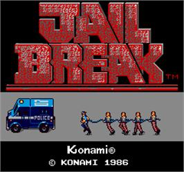 Title screen of Jail Break on the Arcade.
