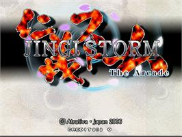 Title screen of Jingi Storm - The Arcade on the Arcade.