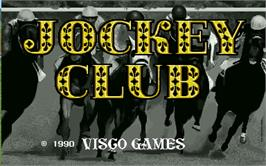Title screen of Jockey Club on the Arcade.