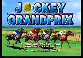 Title screen of Jockey Grand Prix on the Arcade.