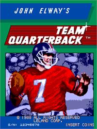 Title screen of John Elway's Team Quarterback on the Arcade.