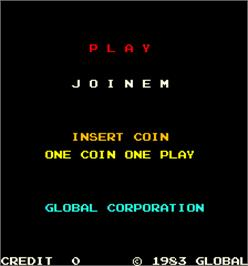 Title screen of Joinem on the Arcade.