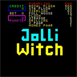 Title screen of Jolli Witch on the Arcade.