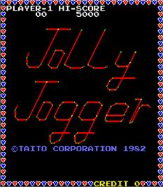 Title screen of Jolly Jogger on the Arcade.