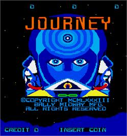 Title screen of Journey on the Arcade.
