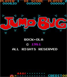 Title screen of Jump Bug on the Arcade.