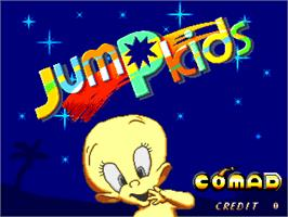 Title screen of Jump Kids on the Arcade.