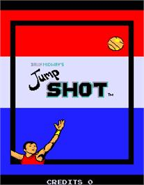 Title screen of Jump Shot Engineering Sample on the Arcade.