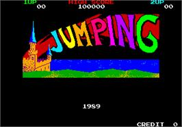 Title screen of Jumping on the Arcade.