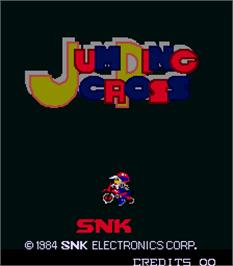Title screen of Jumping Cross on the Arcade.
