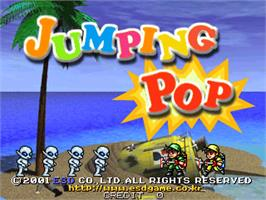 Title screen of Jumping Pop on the Arcade.