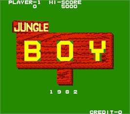 Title screen of Jungle Boy on the Arcade.