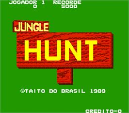 Title screen of Jungle Hunt on the Arcade.