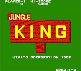 Title screen of Jungle King on the Arcade.