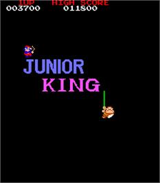 Title screen of Junior King on the Arcade.