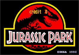 Title screen of Jurassic Park on the Arcade.