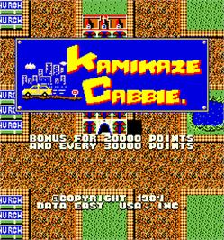 Title screen of Kamikaze Cabbie on the Arcade.