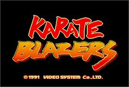 Title screen of Karate Blazers on the Arcade.