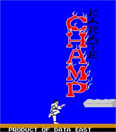 Title screen of Karate Champ on the Arcade.