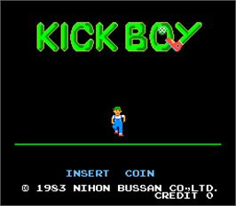 Title screen of Kick Boy on the Arcade.