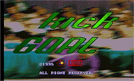 Title screen of Kick Goal on the Arcade.