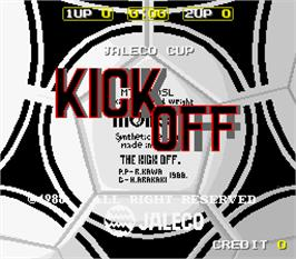 Title screen of Kick Off on the Arcade.
