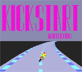 Title screen of Kick Start Wheelie King on the Arcade.