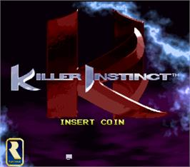 Title screen of Killer Instinct on the Arcade.