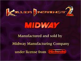 Title screen of Killer Instinct 2 on the Arcade.