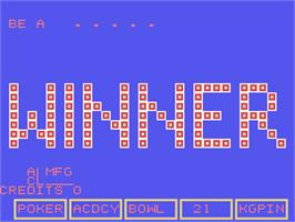 Title screen of King Pin Multi-Game on the Arcade.