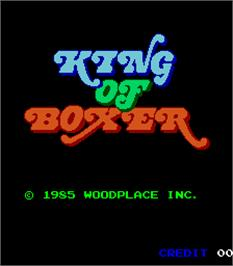 Title screen of King of Boxer on the Arcade.
