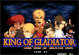 Title screen of King of Gladiator on the Arcade.
